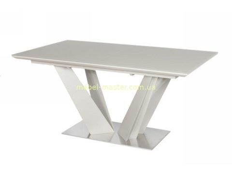 Недорогой белый матовый стол Атлант