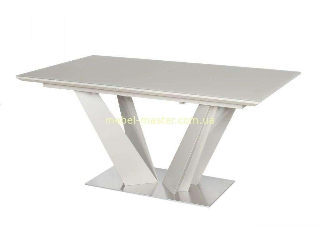 Белый матовый стол Атлант
