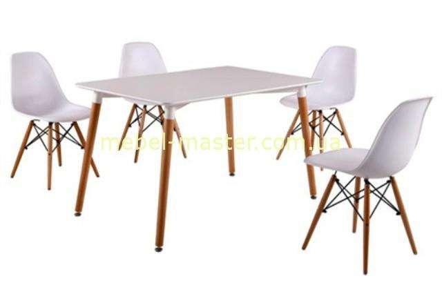 Белый прямоугольный обеденный стол DT-9017, Евро Дом