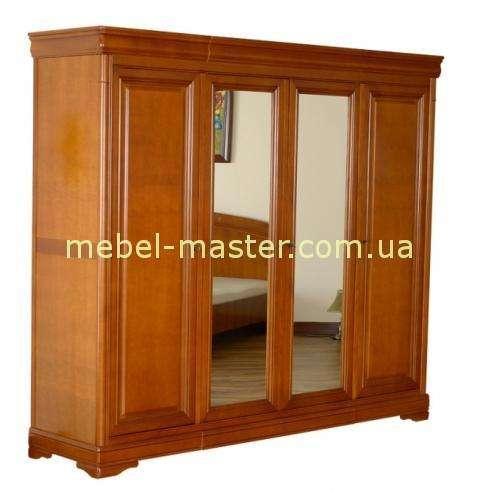 Деревянный шкая с зеркалами в спальню Алма