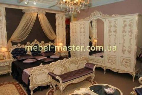 Дорогая белая мебель для спальни Л Л. Румыния со скидкой