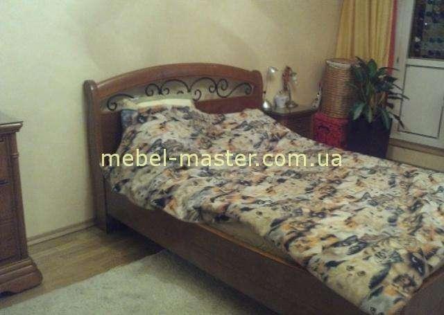 Румынская кровать с ковкой Элеганс в цвете черешня, Мобекс