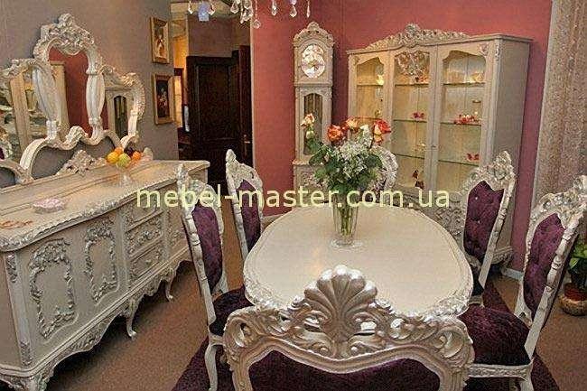 Резная румынская мебель в стиле барокко Л.Л. Румынская фабрика Мобекс