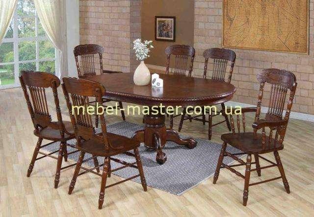 Недорогой красивый обеденный стол HNDT-4872 SWC