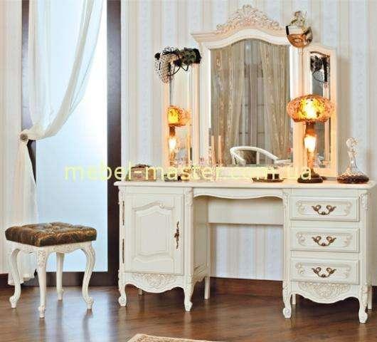 Белый резной туалетный стол в спальню Могадор