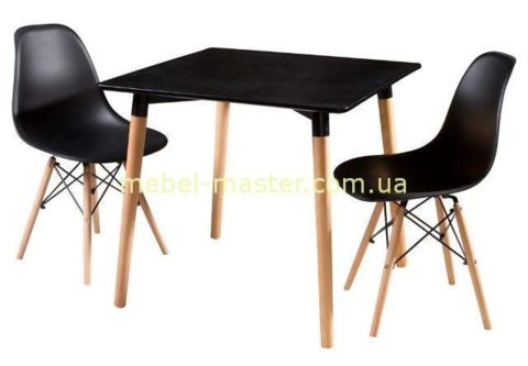 Недорогой черный квадратный стол DT-9017, Китай