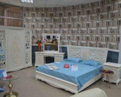 Недорогая белая мебель для спальни Аврора, Беллини