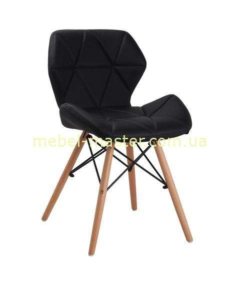 Недорогой черный стул из эко-кожи в стиле модерн DS-926 AXEL