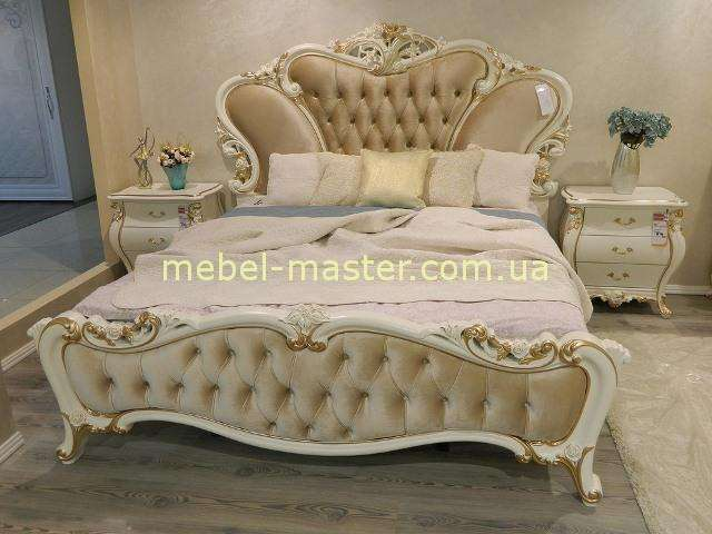 Кровать 1800 с мягким изголовьем Пале Рояль
