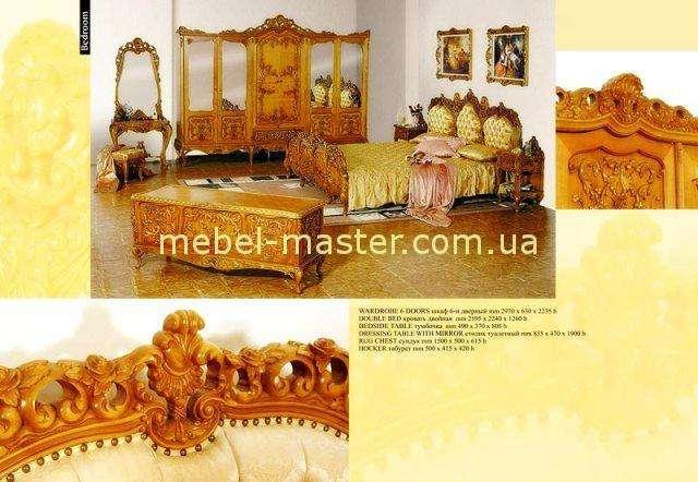 Ореховая мебель для спальни Л.Л. в стиле венецианское барокко