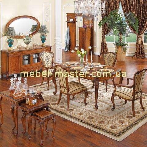 Дорогая классическая мебель в гостиную Карпентер 236 цвете орех.