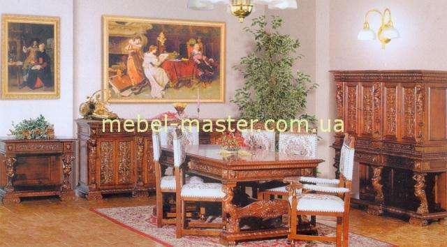 Деревянная резная мебель для гостиной Итальянский Ренессанс, Мобекс