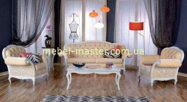 Белый набор мягкой мебели Капри, Румыния