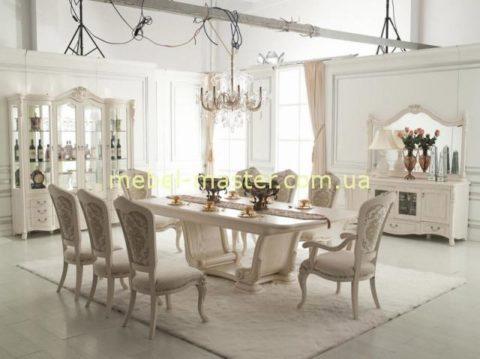 Дорогой белый классический мебельный гарнитур Карпентер 220 со скидкой