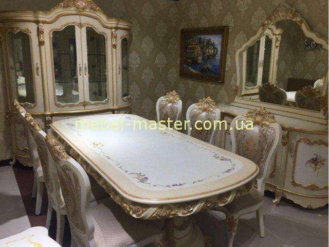 Недорогой росписной стол с золотом Лайма