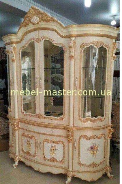 Королевская золотая витрина на четыре двери Лайма
