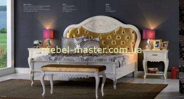 Белая кровать с круглый изголовьем Матео, Румыния