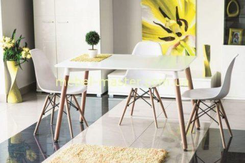 Круглый обеденный стол с темной стеклянной столешницей B2252-6