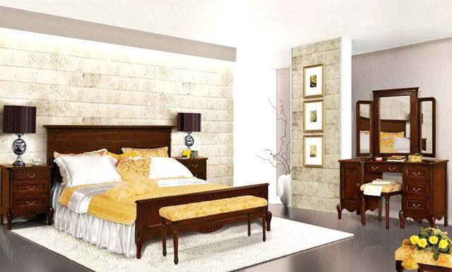 Мебельный комплект из массива натурального дерева Париж