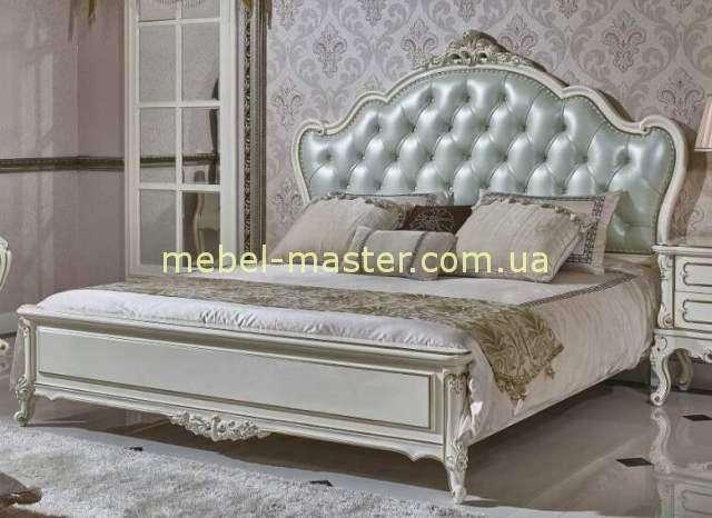 Белая классическая кровать 1800 Ирма, Аванти