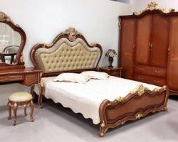 Недорогая классическая коричневая кровать Матильда, Аванти