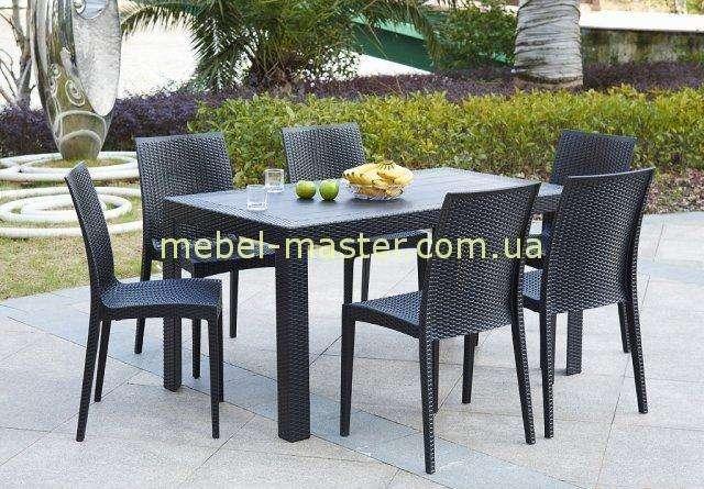 Прямоугольный обеденный стол из ротанга OW-T209S SPRING II, Евродом.