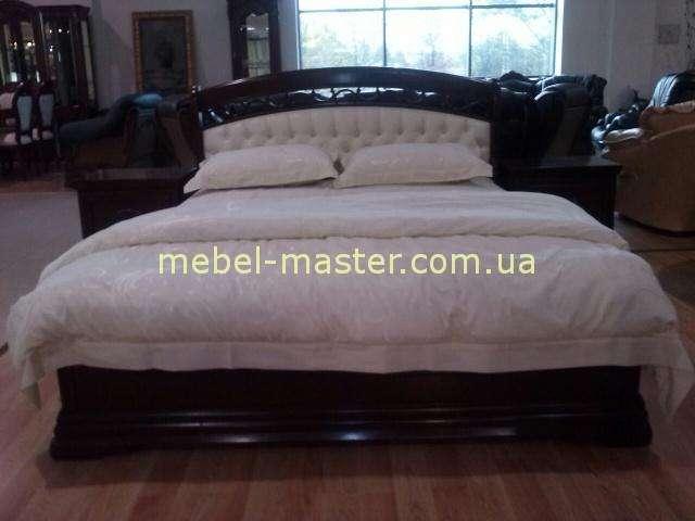 Недорогая кровать Анастасия с мягким кожаным изголовьем, Румыния