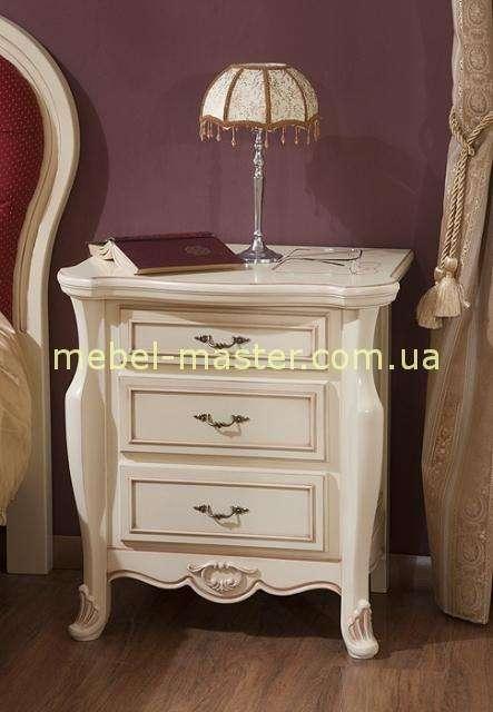 Белая прикпроватная тумбочка в спальню Аркад, Румыния