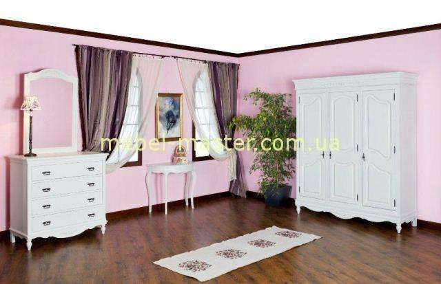 Белый комод со шкафом Лаванда, Мобекс