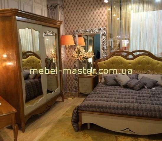 Кровать в цвете орех Венета