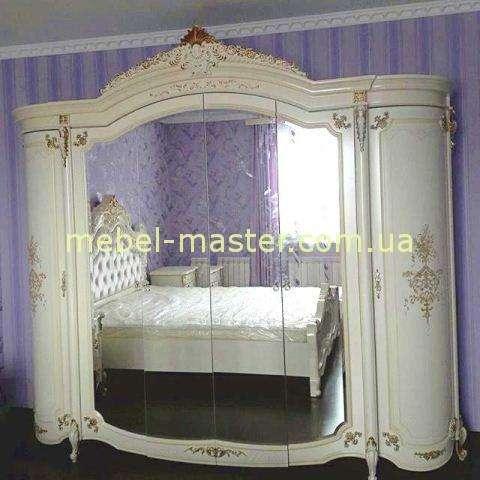 Шкаф белый для одежды на 6 дверей. Спальня Элиана, Слониммебель