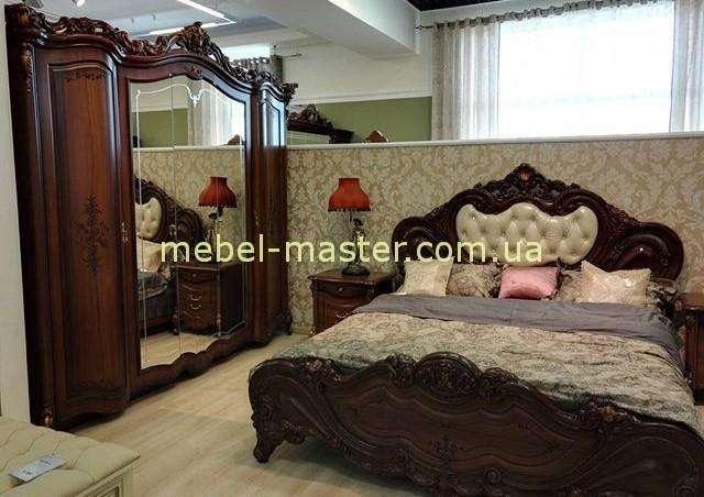 Ореховая кровать в стиле барокко Элиза, Слониммебель
