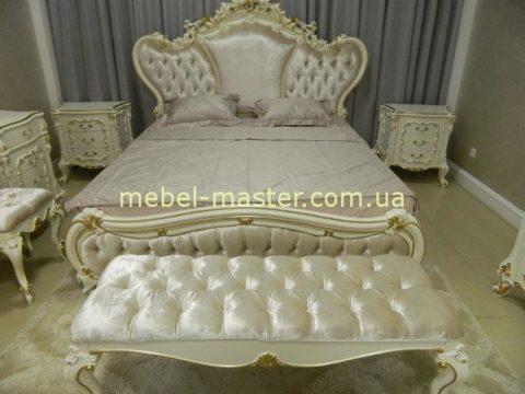 Белая классическая кровать Людовик, Энигма