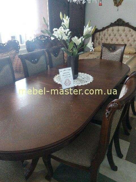 Классический овальный обеденный стол Братислава, в цвете орех