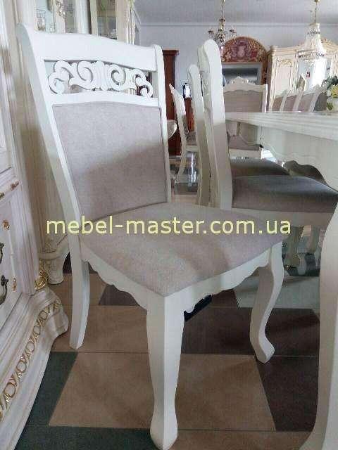 Белый стол в комплект обеденной мебели Видень