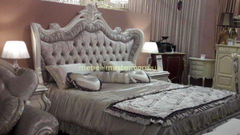 Недорогой белый классический спальный гарнитур Версаль, фабрика Энигма