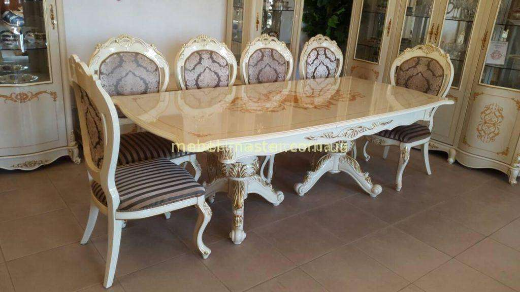 Обеденный стол в цвете слоновая кость Неаполь, София мебель