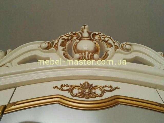 Резная корона шкафа с позолотой Элиза, Слоним