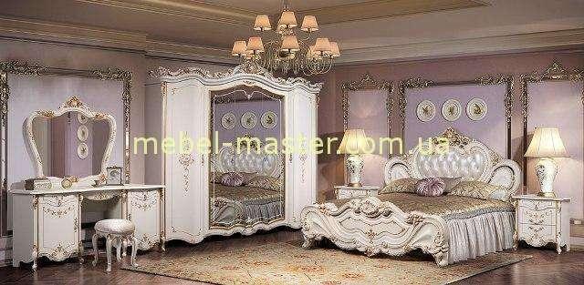 Набор белой мебели для спальни Элиза, Слоним мебель