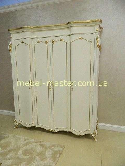 Белый классический прямой шкаф Людовик