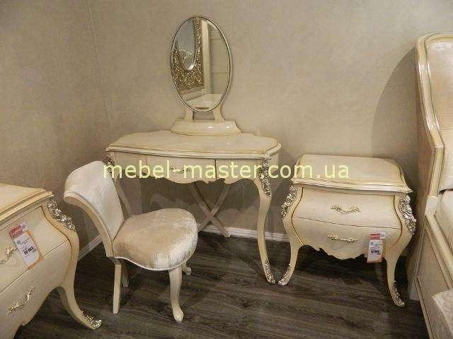 Светлый туалетный стол для спальни Грация в стиле Арт-Деко, Энигма