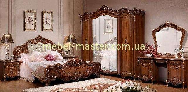 Классический мебельный гарнитур Элиза в цвете орех. Слониммебель