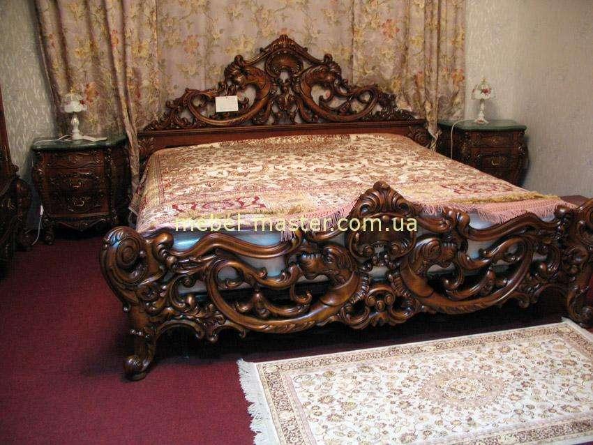 Резная кровать из массива бука Клеопатра Люкс, Симекс