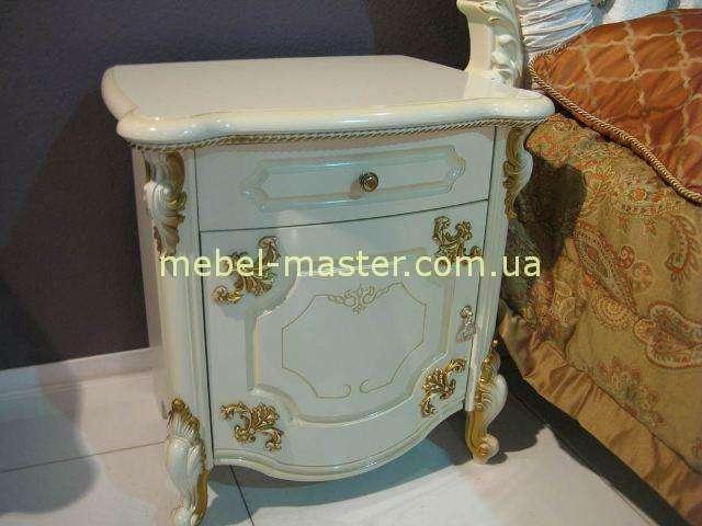 Белая прикроватная тумба в мебельный гарнитур Элиана, Слониммебель