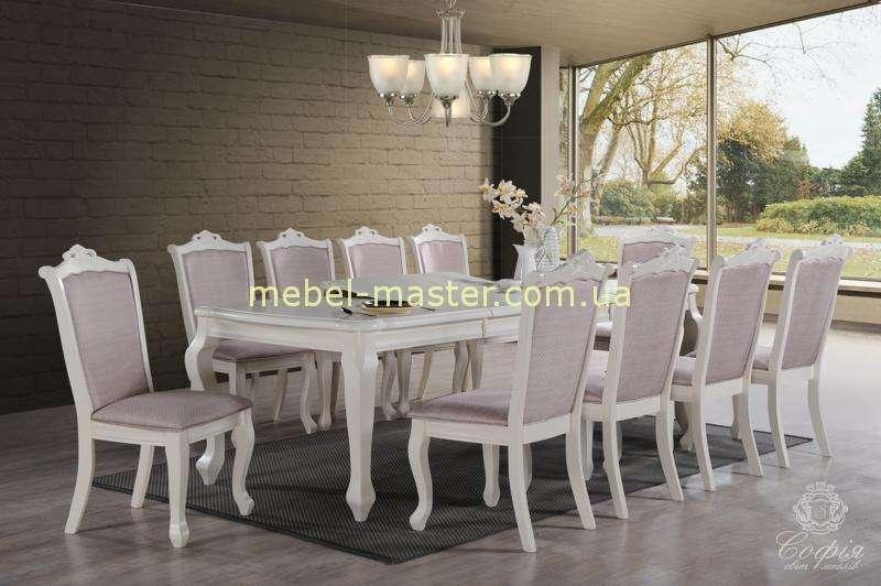 Недорогой белый обеденный стол Севилья