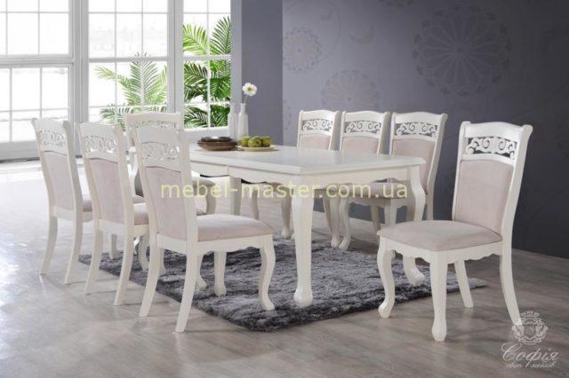 Недорогой прямоугольный белый стол Видень, Малайзия