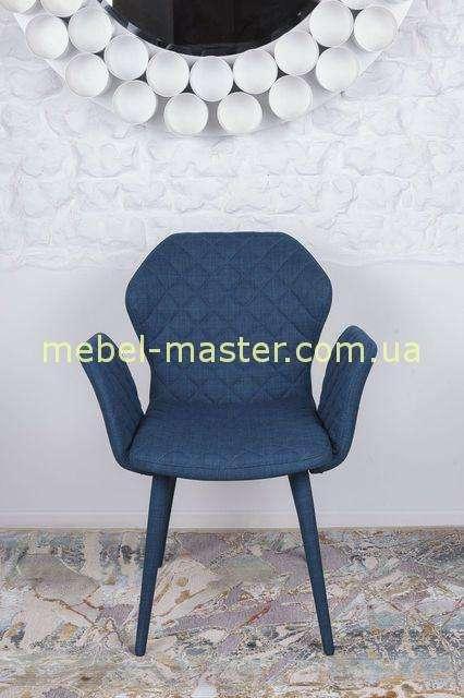 Синее мягкое кресло Валенсия, Николас