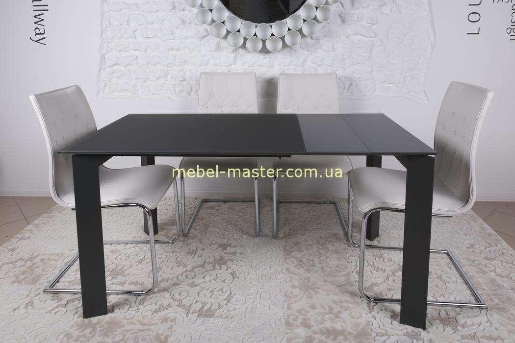 Черный прямой стол обеденный Бристоль, Николас