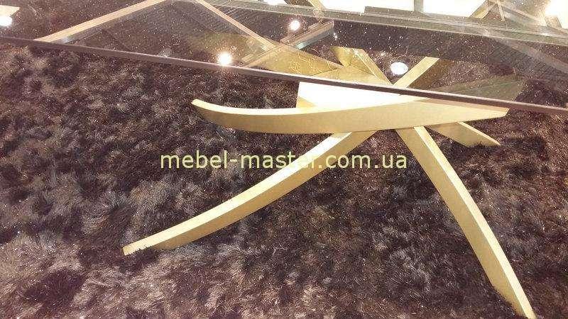 Фигурные золотые ноги стола Линкольн, Николас
