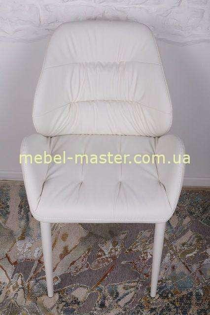 Белый мягкий стул SEVILLA из экокожи, Николас